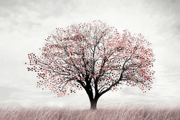 Blooming Tree Mixed Media - Rose Gold Tree by Lori Deiter
