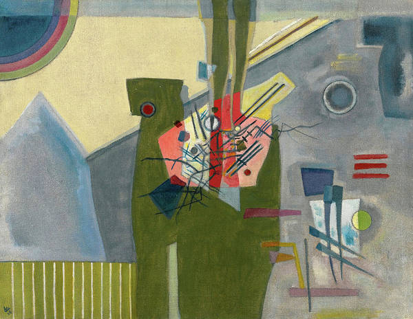 Improvisations Wall Art - Painting - Rose In Grey, 1926 by Wassily Kandinsky