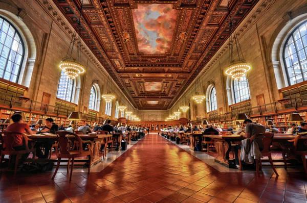 Reading Photograph - Rose Main Reading Room, Nyc Public by Shobeir Ansari