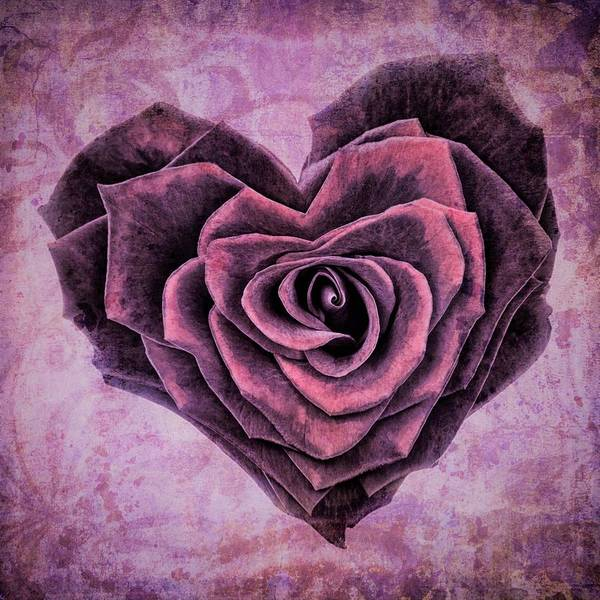 Wall Art - Painting - Rose Of Heart by ArtMarketJapan