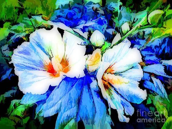 Shrub Mixed Media - Rose Of Sharon In Impressionism by Debra Lynch
