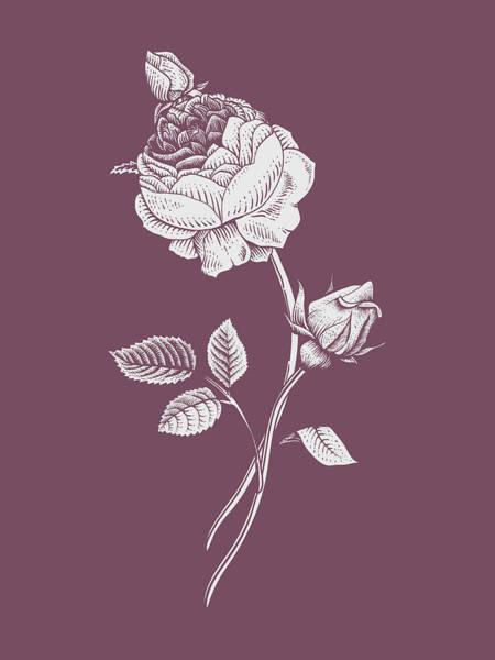 Bouquet Mixed Media - Rose Purple Flower by Naxart Studio
