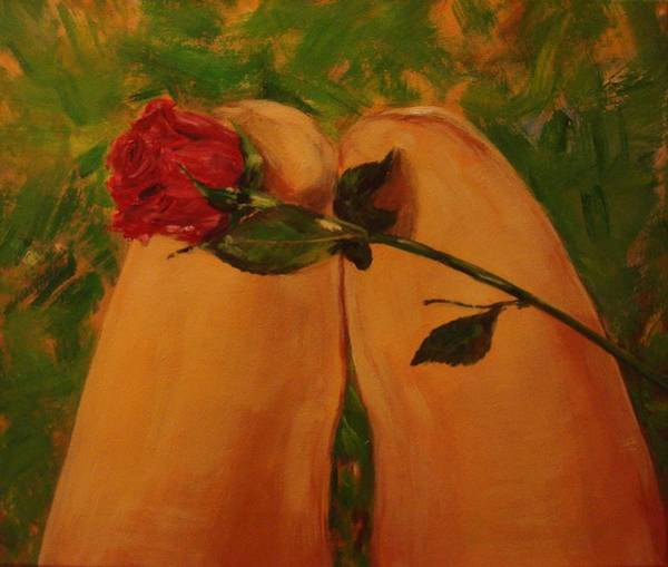 Wall Art - Painting - Rose Touch The Skin by Lamei Lepschy Bian