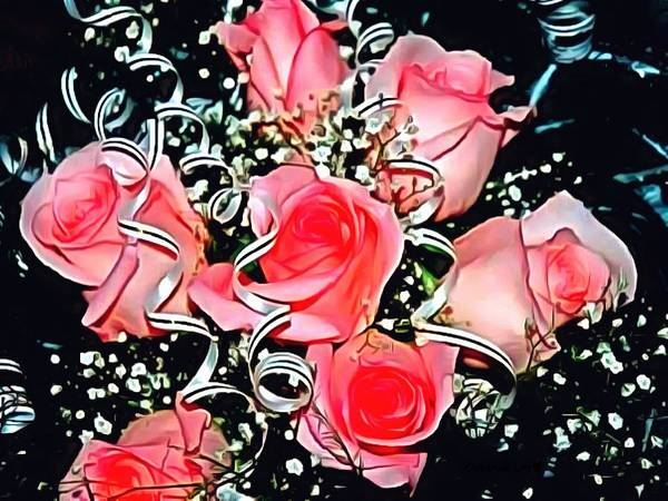 Digital Art - Rose Your Bow by Catherine Lott