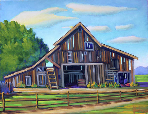 Painting - Roseberry Barn by Kevin Hughes