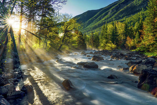 Photograph - Rosebud Creek Sunrise by Leland D Howard