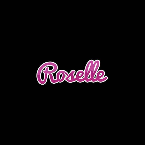 Wall Art - Digital Art - Roselle #roselle by TintoDesigns
