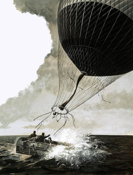 Rosemary Painting - Rosemary Mudie And Her Husband Attempt A Transatlantic Crossing By Balloon by English School