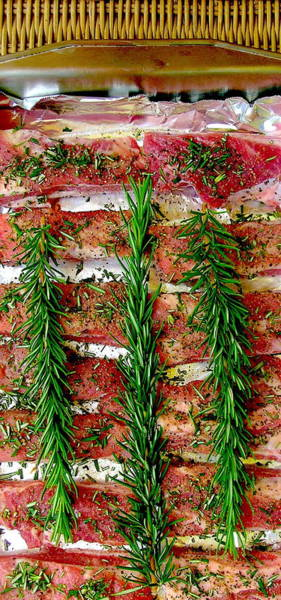 Wall Art - Photograph - Rosemary Pork Ribs by James Temple