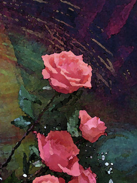 Mixed Media - Roses 1010 by Corinne Carroll
