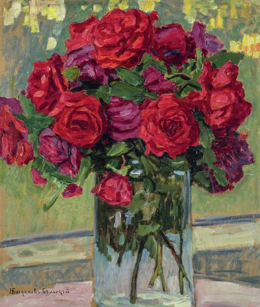 Wall Art - Painting - Roses, 1923 by Nikolay Bogdanov-Belsky