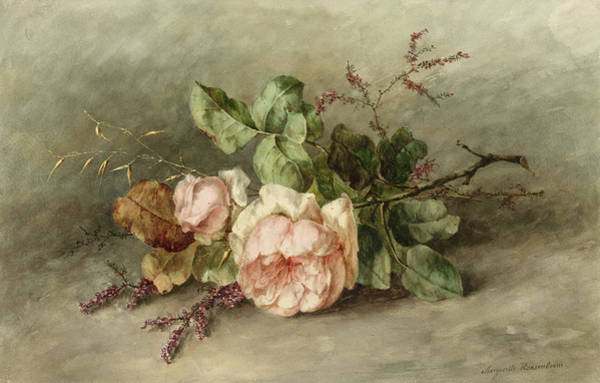 Wall Art - Painting - Roses, 19th Century by Margaretha Roosenboom