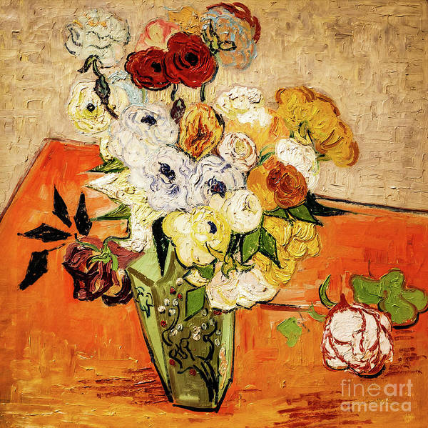 Painting - Roses And Anemones by Vincent Van Gogh