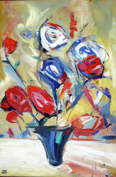 Painting - Roses And Bluez by John Jr Gholson