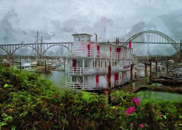 Photograph - Roses And The Newport Belle by Thom Zehrfeld