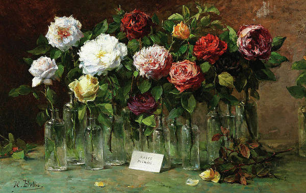 Wall Art - Painting - Roses by Hubert Bellis