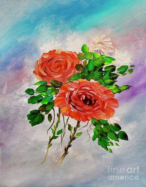 Painting - Roses by Mary Scott