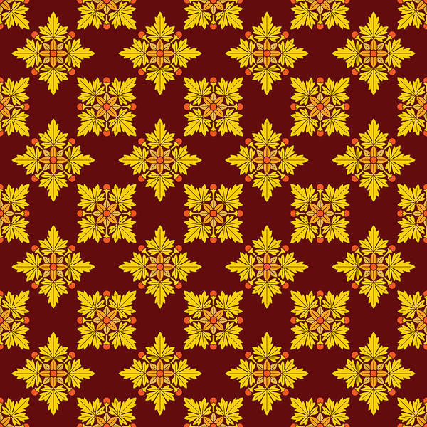 Wall Art - Digital Art - Rosette Ornament Pattern 2 by Gerald Gallo