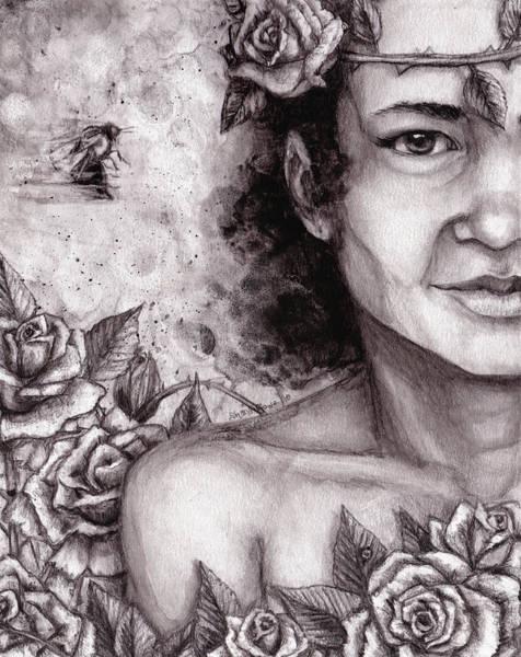 Organic Garden Drawing - Rosie by Shana Rowe Jackson