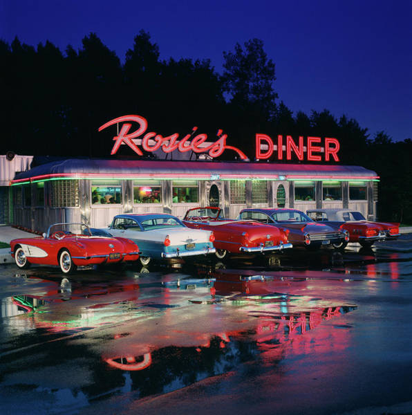 Rosies Diner Art Print by Car Culture