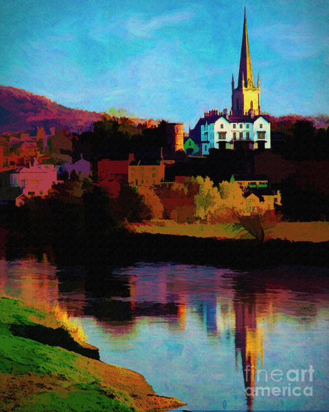Digital Art - Ross On Wye by Edmund Nagele