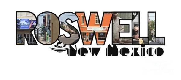 Photograph - Roswell New Mexico Big Letter Travel Souvenir by Colleen Cornelius