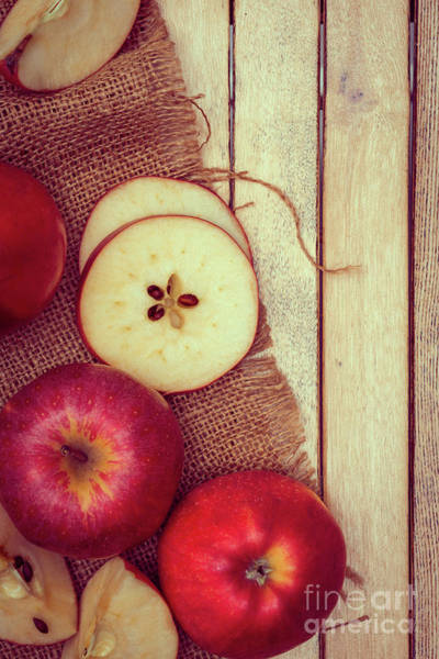 Wall Art - Photograph - Rosy Red Apples by Amanda Elwell