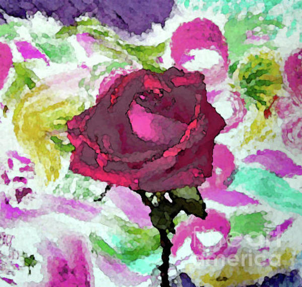 Mixed Media - Rosy Rose by Corinne Carroll