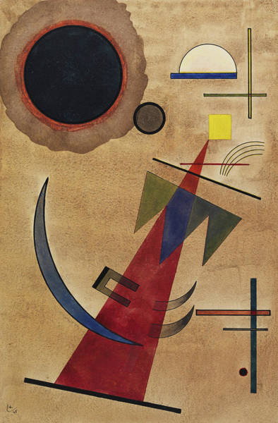 Visual Illusion Wall Art - Painting - Rot In Spitzform, 1925 by Wassily Kandinsky