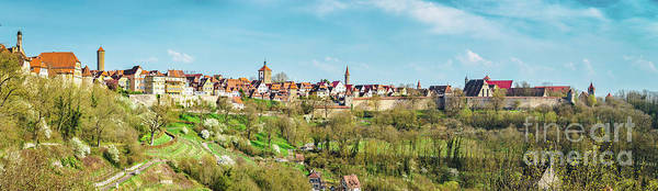 Wall Art - Photograph - Rothenburg Ob Der Tauber Panorama by JR Photography