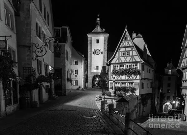 Wall Art - Photograph - Rothenburg Ob Tauber Clock Tower by Norma Brandsberg