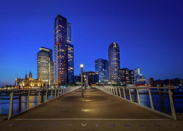 Photograph - Rottedam Rijnhaven Bridge by Mario Visser