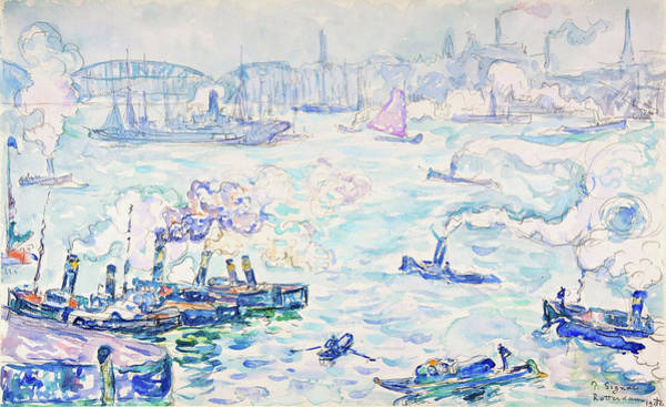 Neo-impressionism Wall Art - Painting - Rotterdam - Digital Remastered Edition by Paul Signac