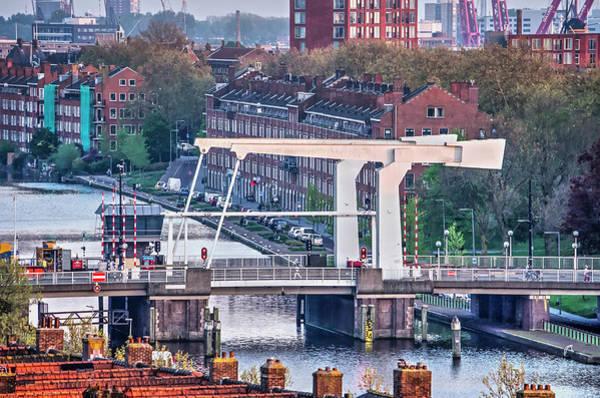 Photograph - Rotterdam Mathenesserbridge by Frans Blok