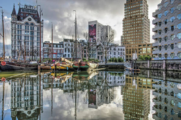 Photograph - Rotterdam Skyline And The Old Harbour by Frans Blok