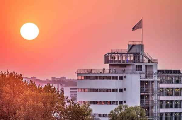 Photograph - Rotterdam Van Nelle At Sunset by Frans Blok