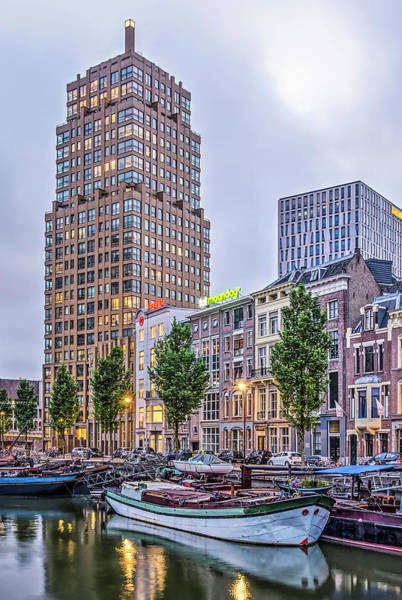 Photograph - Rotterdam Wijnhaven At Dusk by Frans Blok