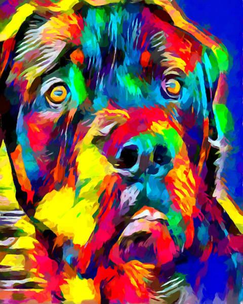 Rottweiler Painting - Rottweiler 2 by Chris Butler