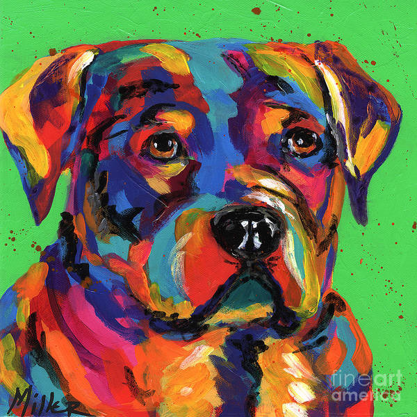 Wall Art - Painting - Rottweiler by Tracy Miller