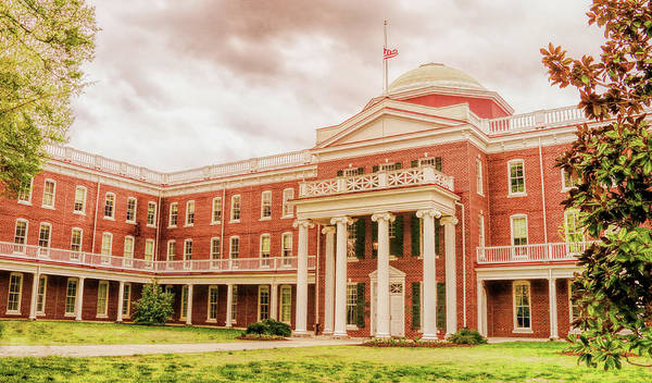 Photograph - Rotunda Building Longwood University In Farmville Virginia by Ola Allen