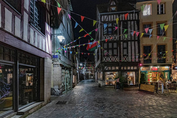 Photograph - Rouen At Night by Randy Scherkenbach