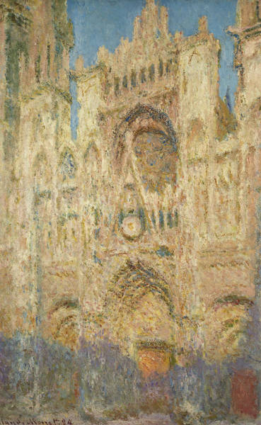 Wall Art - Painting - Rouen Cathedral In The Evening, 1894 by Claude Monet