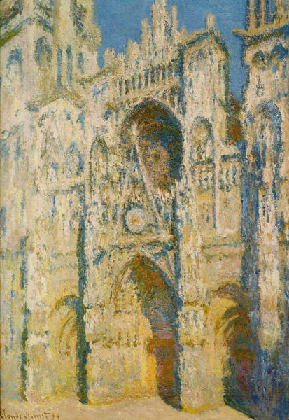 Wall Art - Painting - Rouen  Cathedral, The Portal And The Tower D Allban On The Sun, 1894 by Claude Monet