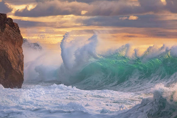 Photograph - Rough Sea 10 - Giant Wave During A Sea Storm by Giovanni Allievi