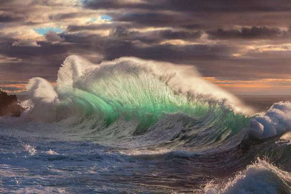 Photograph - Rough Sea 12 - Huge Wave During A Sea Storm by Giovanni Allievi