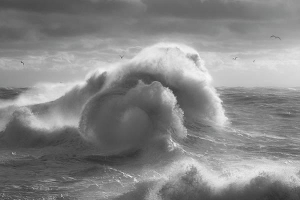 Photograph - Rough Sea 17 by Giovanni Allievi