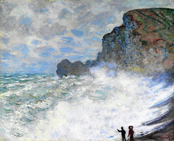 Wall Art - Painting - Rough Weather At Etretat - Digital Remastered Edition by Claude Monet