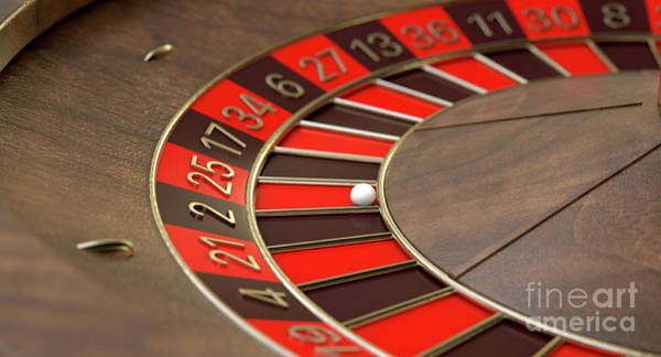 Rotating Digital Art - Roulette Wheel Closeup by Allan Swart