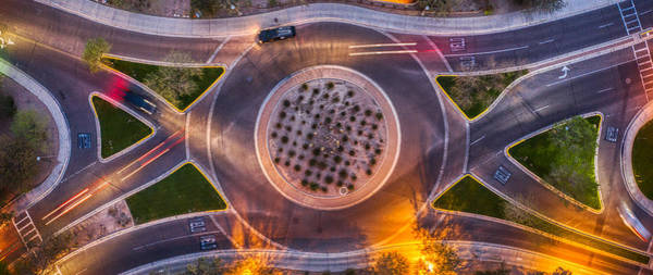 Photograph - Round About Top Down by Ants Drone Photography