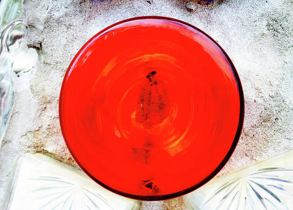 Photograph - Round Red Glass Bottom by Cynthia Guinn